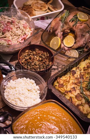 Party food. Thanksgiving day  - stock photo