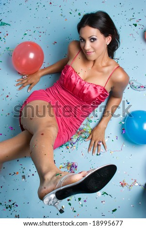 Party Girl - stock photo