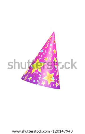 Party hat isolated against white background - stock photo