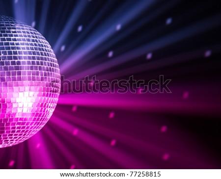 party lights disco ball - stock photo