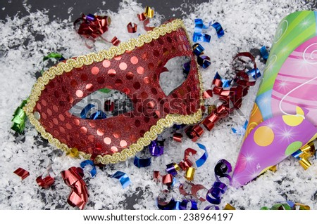 Party Masks and Hats - stock photo
