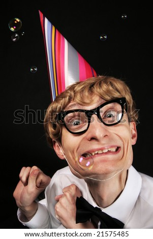 Party nerd - stock photo