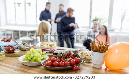 Party snacks - stock photo