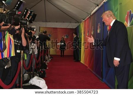 PASADENA, CA - JAN 16: Donald Trump at the NBCUNIVERSAL 2015 Winter TCA Press Tour at The Langham Huntington Hotel on January 16, 2015 in Pasadena, CA - stock photo