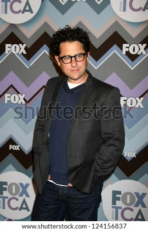 PASADENA, CA  - JAN 8:  JJ Abrams attends the FOX TV 2013 TCA Winter Press Tour at Langham Huntington Hotel on January 8, 2013 in Pasadena, CA - stock photo