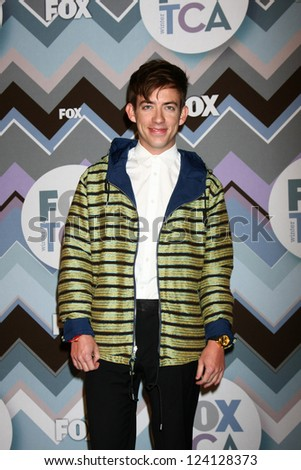 PASADENA, CA - JAN 8:  Kevin McHale attends the FOX TV 2013 TCA Winter Press Tour at Langham Huntington Hotel on January 8, 2013 in Pasadena, CA - stock photo