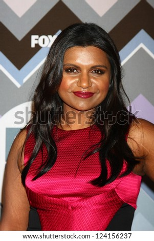 PASADENA, CA - JAN 8:  Mindy Kaling attends the FOX TV 2013 TCA Winter Press Tour at Langham Huntington Hotel on January 8, 2013 in Pasadena, CA - stock photo