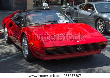 Pasadena, CA - USA - April 26, 2015: Ferrari 308  car on display at the 8th Annual Ferrari Concorso car event - stock photo
