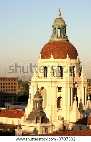 Pasadena City Hall at Sunrise - stock photo