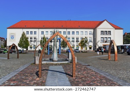Pasewalk Market Place - stock photo