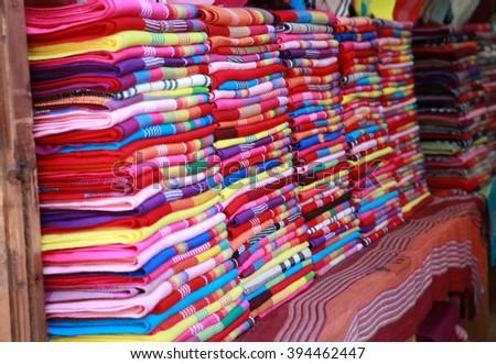 Pashmina scarves - stock photo