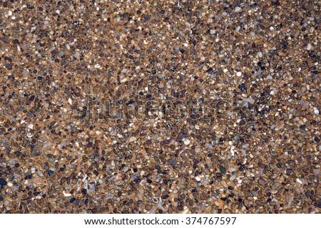 passage stone walkway texture , small gravel floor - stock photo