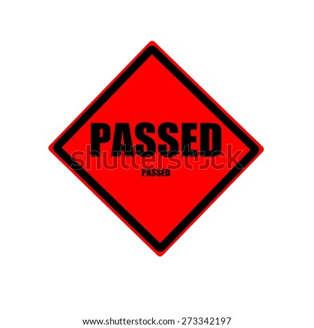 PASSED black stamp text on red background - stock photo