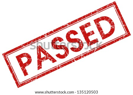 passed stamp - stock photo