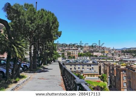 Passeggiata in Genoa - stock photo