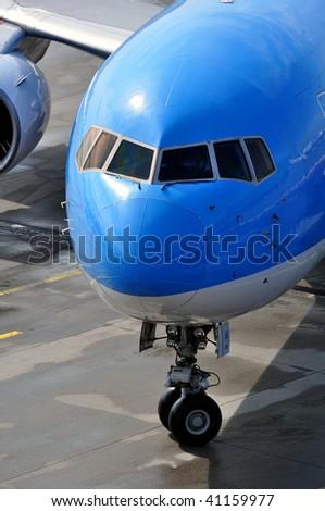 Passenger airplane. - stock photo