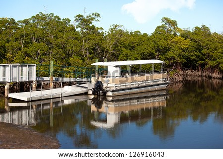 Passenger boat in south florida - stock photo