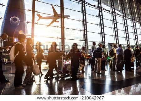 passenger In the Malaysia airport - stock photo