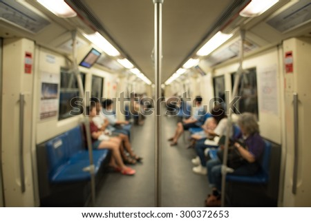 Passenger in the train,Blur for background. - stock photo