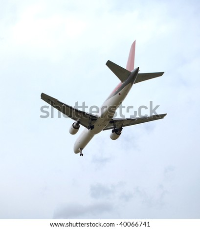 Passenger plane - stock photo