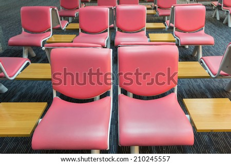 Passenger seat in the airport - stock photo
