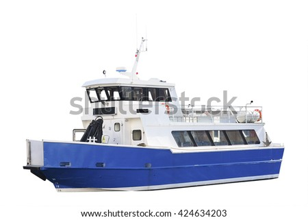 passenger ship isolated - stock photo