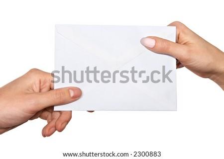 passing mail - stock photo