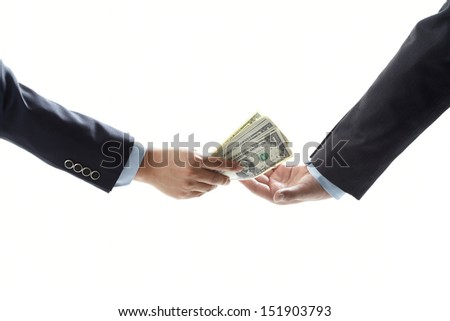 Passing the money - stock photo