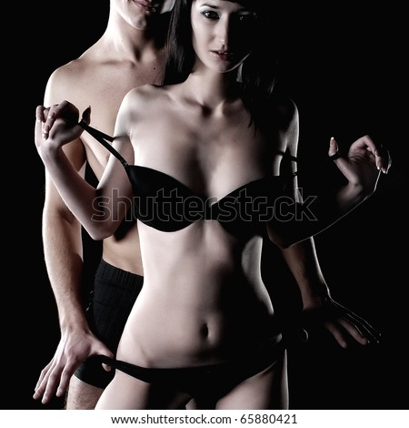 Passion couple - stock photo