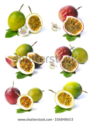 Passion fruit collection - stock photo