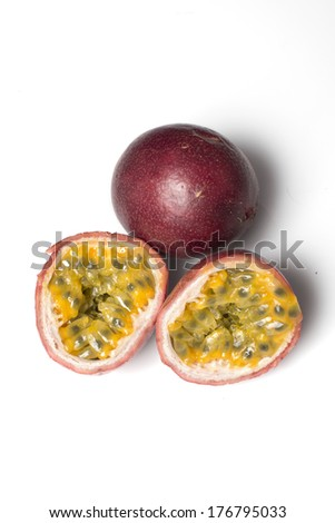 passion fruit of granadilla - stock photo