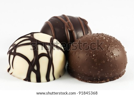 Passion hidden in the chocolate - stock photo