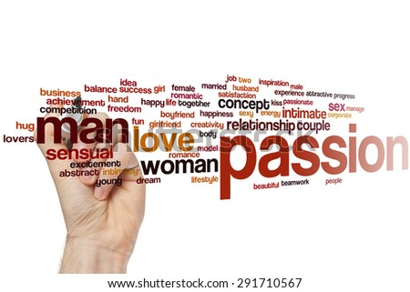 Passion word cloud concept - stock photo