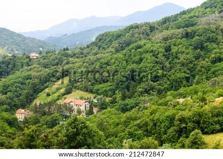 Passo dei Giovi (Genoa, Liguria, Italy): mountain landscape at summer - stock photo