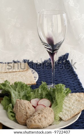 Passover meal - stock photo