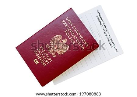 Passport. An application for a passport. - stock photo