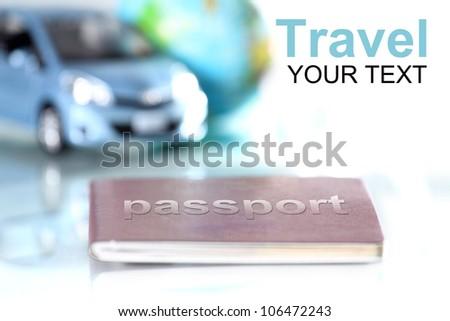 Passport for travel - stock photo