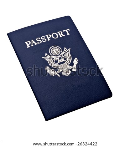 Passport on isolated background - stock photo