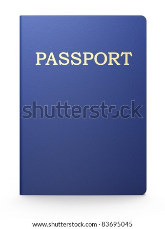 Passport on white background - stock photo
