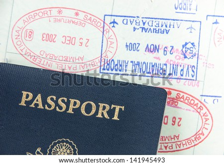 Passport, Visa and Immigration concept - stock photo