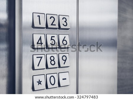 Password code Keypad Security system protected - stock photo