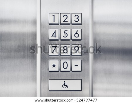 Password code Security keypad system protection - stock photo