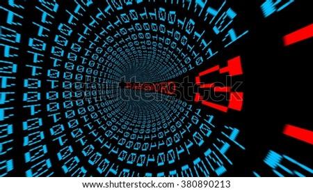Password data tunnel - stock photo