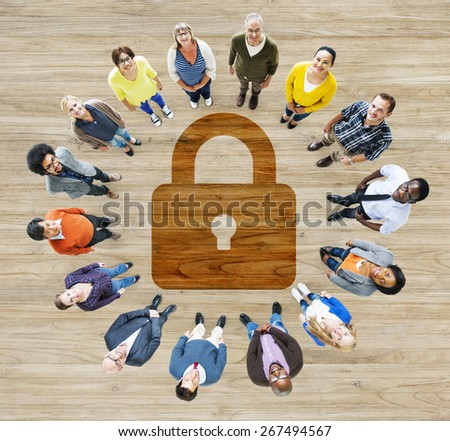 Password Security Privacy Protection Confidentiality Lock Login Concept - stock photo