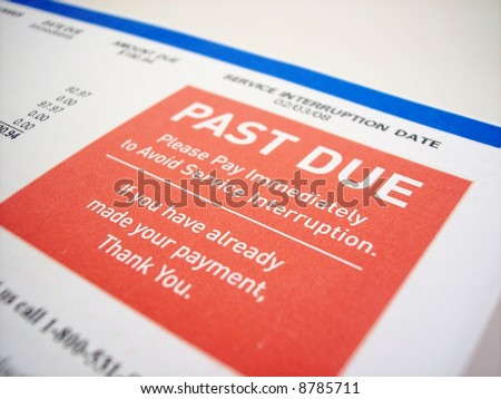 Past due notice - stock photo