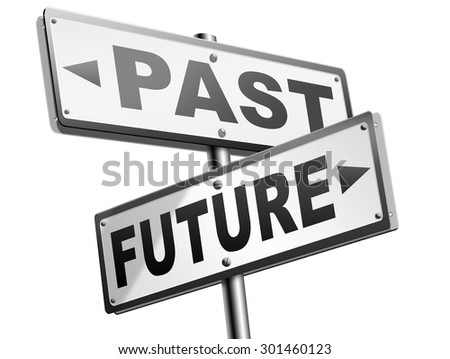 past future prediction and forecast near future fortune telling and forecast evolution and progress and innovations - stock photo