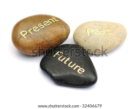 Past present and future - stock photo