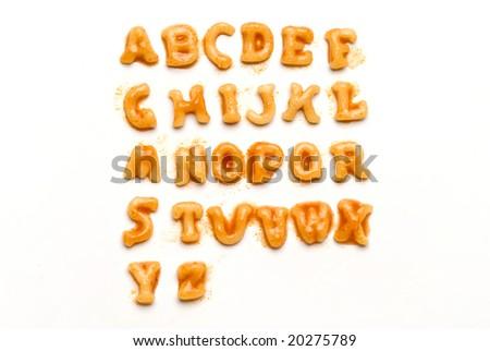 Pasta Alphabet - stock photo