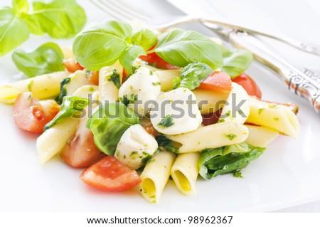 Pasta Caprese Salad - stock photo