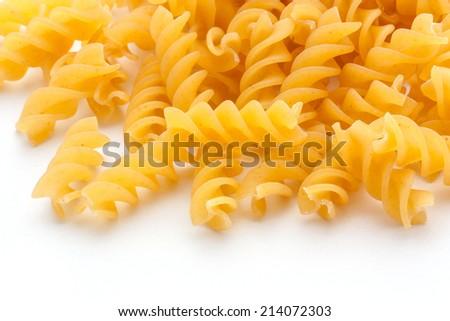 Pasta isolated on white background - stock photo